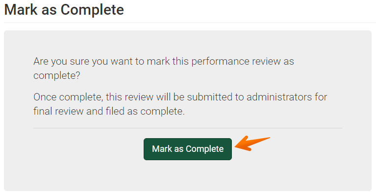 Supervisor Review Mark as Complete